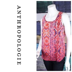 Olive & Oak Pink Ombre Boho Tribal Tank Top Tunic